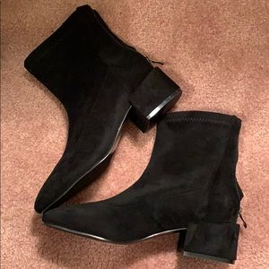 Brand new black suede boots